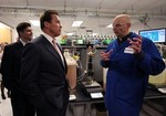 MOUNTAIN VIEW, CA - JANUARY 12: California governor Arnold Schwarzenegger meets with Entrepreneur