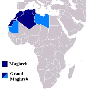 Localisation du Maghreb